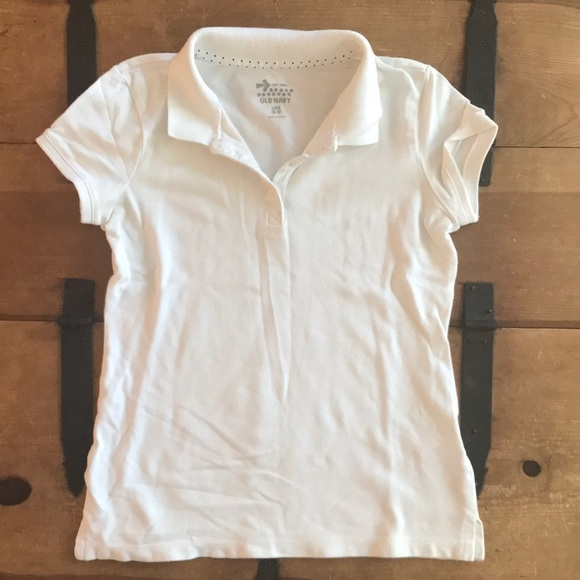 Old Navy Other - Old Navy Girls Size Large (10-12) White Polo Shirt